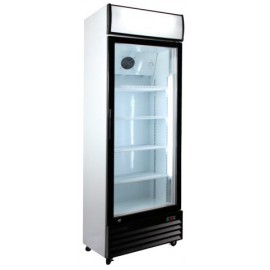Armario frigorífico con puerta de cristal