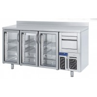 Frente mostrador refrigerado INFRICO modelo FMPP puerta de cristal