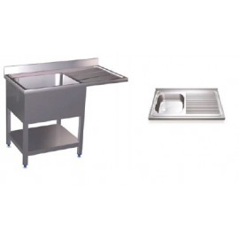 Fregaderos para lavavasos y lavaplatos simples