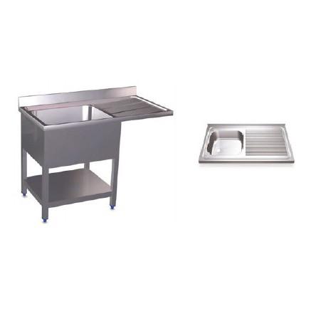 Fregaderos para lavavasos y lavaplatos, simples