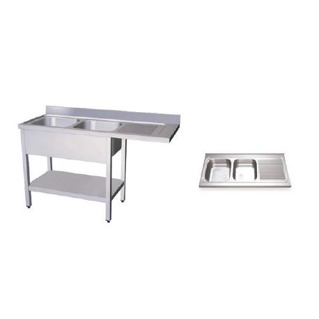 Fregaderos para lavavasos y lavaplatos, dobles
