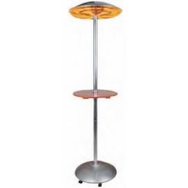 Estufa eléctrica para terraza con mesa